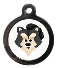 Pet Id tag Cute Classic Mr Dog Personalised Dog or Cat Tag two sizes