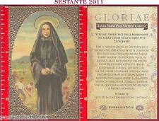 C96 SANTINO HOLY CARD S. SANTA FRANCESCA SAVERIO CABRINI MISSIONARIE SACRO CUORE