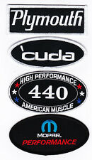 PLYMOUTH CUDA 440 MOPAR PERFORMANCE SEW/IRON ON PATCH BADGE EMBLEM EMBROIDERED