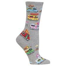Food Trucks Hot Sox Trouser Crew Sock Grey New Women Size 9-11 Fast Food Fashion