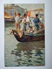 TRIESTE barca pescatori Grimani vecchia cartolina