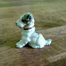 Antique Hubley Miniature Metal Wire Haired Dog Fox Terrier Card Holder