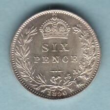 Great Britain. 1890 Sixpence..   UNC/BU - Full Lustre