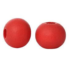 50 perles en bois 6mm couleur Rouge Pasteque 6 mm creation colier attache tetine