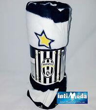Coperta plaid invernale in pile F.C. Juventus ufficiale ologrammato 130x160