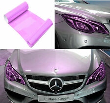 "Fog Tail Headlight DRL Cover Film Purple Decorative Vinyl Wrap 12""*40"" For Benz"
