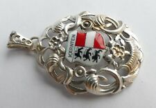 "Anhänger "" Kärnten "" Wappen 835 Silber rhodiniert Vintage 60er pendant silver"