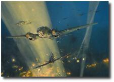 Fury of Assault by Robert Taylor - Heinkel 111 - Hurricane - WWII - Aviation Art