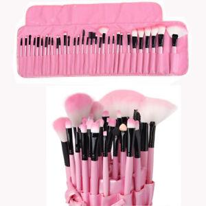 32Pcs Professional Makeup Brushes Foundation Eyebrows Face Brush & Luxury Bag UK