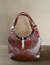Exotic Brown Leather Hobo Bag, Women Purses, Handmade Handbags and Purses, Bony