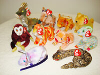 Ty Zodiac Beanie Babies, Lot of 10 With Tags