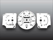 1995-1996 Mazda Protege DX LX Auto Dash Instrument Cluster White Face Gauges