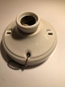 Vintage P&S Alabax Porcelain Ceiling Light Fixture