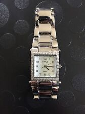 QVC Diamonique Watch With Stainless Steel Strap