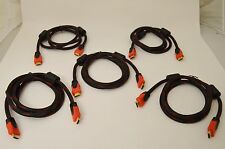5X High Quality 6FT HDMI Cable 24K Gold HDTV W/ Ethrnet 1080p Blu Ray xBox PS4