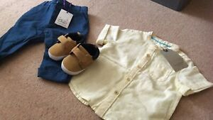 Zara Baby Boy Mini Club 3-6 Months Outfit With Soft Shoes