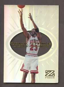 1997-98 Skybox Z-Force Quick Strike #5 Michael Jordan Chicago Bulls HOF Insert