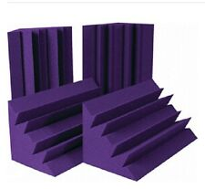 Studio Corner Acoustic Sound Panels 8 PCS Bass Trap Purple Acoustic Foam