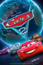 CARS 2 MOVIE POSTER DS 27x40 ADVANCE STYLE 2011 PIXAR DISNEY ANIMATION