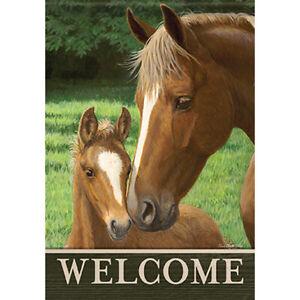 "MINI FLAG - Pasture Love - Horse - Carson #49880 - 12.5""x18"""