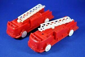Plasticville - O-O27 - Vehicles - V6; V10 - 2 Fire Trucks - As Is