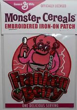General Mills Franken Berry Embroidered Iron On Patch - Monster Cereals 131-T