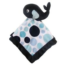 NWT Carter's Whale Lovey Baby Security Blanket Blue White Circles Polka Dots