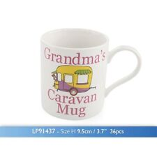 The Leonardo Collection Grandma's Caravan Novelty Gift Boxed Mug, White