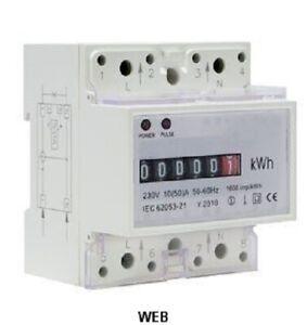 Contatore energia elettrica monofase 4 posti DIN