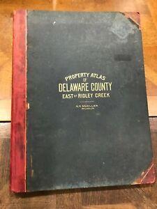 Property Atlas of Delaware (PA) County 1910 A H Mueller Philadelphia Color Maps