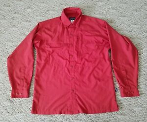 EUC Patagonia Men's Fly Fishing Shirt Long Sleeve Size Small S Color Red Fish