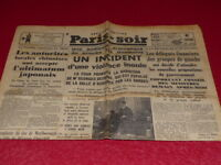 [PRESSE WW2 AVANT GUERRE] PARIS-SOIR#4530 20 NOVEMBRE 1935 Chine Japon Oustachis