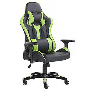 Gaming Chair PC Swivel High Back Ergonomic Racing Leather Adjust Office Green