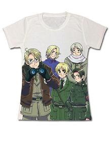 **Legit** Hetalia World Series England America Group Anime Junior T-Shirt #59439