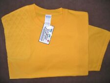 Large Rh Double Thickness Trap/Skeet Pad Gold S/S Cotton Shooting T-Shirt