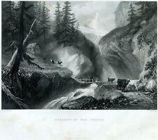Discesa dal Monte Cervino. Valtournenche.Valle d'Aosta.Alpi Pennine.Acciaio.1859