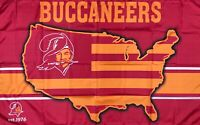 Tampa Bay Buccaneers Retro Man-Cave NFL Flag 3x5 ft Red Sports Banner Garage New