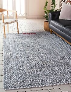 Rug 100% Natural cotton Braided Style Reversible Handmade area carpet Rag Rug