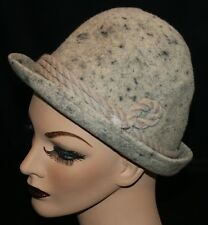 "A Breiter Munchen Hat Felted Wool 22 1/2"" Vtg L Gray German Hunting Germany"