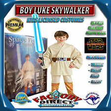 Deluxe Jedi Master Boy Luke Skywalker Star Wars Kid Dress up Costume