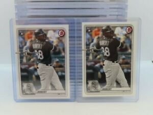 (2) 2020 Bowman Luis Robert Rookie Card RC #18 Lot White Sox V29