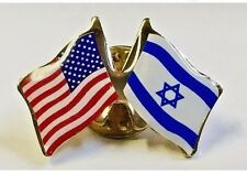 Lot of 12 ISRAEL USA FRIENDSHIP FLAG LAPEL PIN *MADE IN USA* vest tie tack hat