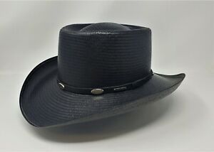 STETSON SHANTUNG PANAMA ROYAL FLUSH STRAW GAMBLER COWBOY WESTERN HAT