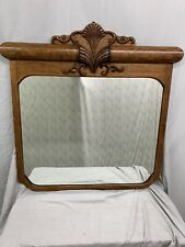 Antique Large Quartered Oak Ornate Wall Mirror Wow !