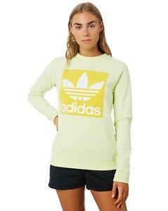 Adidas Originals Lightweight Sweatshirt - Yellow - Girls/Women RRP 54.99 XS M L