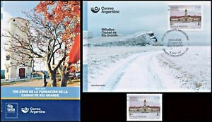 """ARGENTINA-2021-STAMPS""""CENTENNIAL OF THE FOUNDING OF THE CITY OF RIO GRANDE"""""""