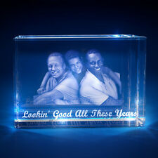 3D Laser Crystal Glass Personalized Etched Engrave Gift Father's Day Landscape L
