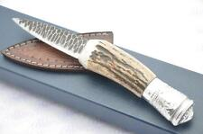 Fantastic Silver Genuine Stag Horn Sgian Dubh Hand Forged Sheffield England
