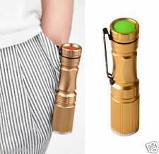 3W MINI GOLD CREE Q5 LED TORCH SUPER BRIGHT FLASHLIGHT WATERPROOF ZOOM LENS L@@K