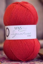West Yorkshire Spinners Signature 4 Ply Yarn Wool 100g - Cayenne Pepper (510)